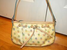 DOONEY & BOURKE Signature MULTI COLOR Cream PURSE Handbag Rainbow Zipper