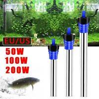 50/100/200W Aquarium Fish Tank Heater Thermostat Submersible New Tool B2Z4