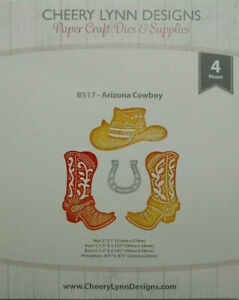 Cheery Lynn Designs Dies ARIZONA COWBOY Cutting Dies - B517  (USED)