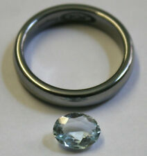 Natural Loose ACQUAMARINA Gemstone 6x8mm Sfaccettato Ovale Taglio 1.1 ct GEMMA AQ22