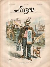1894 Judge may 5 Two parts I voted Democratic then, Now I am poor. Cleveland