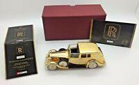 Boxed 2003 CORGI 1937 ROLLS ROYCE 24c GOLD Sedance DeVille BOND CC06804 Model