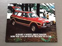 1977 Subaru 4wd Station Wagon and Ski Team Original Car Sales Brochure Folder