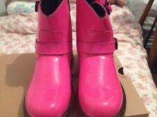 Dr. Martens Patent Bottes motardes en cuir rose taille 3 Chic Bottes Pour Chic Lady