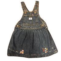 Osh Kosh B'Gosh Girls size 3T Denim Dress with Embroidery