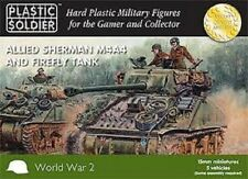 WW2V15011 15MM ALLIED SHERMAN M4A4 & FIREFLY TANK  - PLASTIC SOLDIER COMPANY WW2