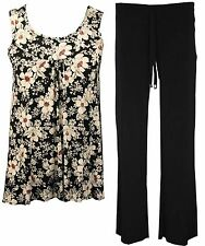 Womens Ladies Plus Size Sleeveless top vest and Trouser Full Suit 12 to 26