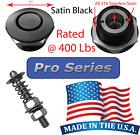 "Pro Series 1"" Satin Quick Release Push Button Hood Pin Lock Clip Bumper Latch QL"