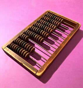nice 1930 antique vintage abacus mechanical counting wood accounting calculator