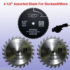 3x 4-1/2 inch Metal Wood  Blade for ROCKWELL RK3441K WORX RW9281 RW9282 Compact