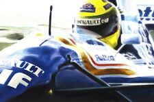 Senna Williams FW16 Cockpit Helmet 1994 Formula 1 F1 Car CANVAS Art Print Poster