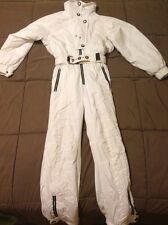 Womens SCHOFFEL 1000 Ski Suit Snowsuit 8 Coat Pants Vintage belt ~