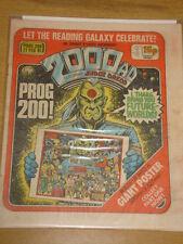 2000AD #200 BRITISH WEEKLY COMIC JUDGE DREDD FEB 1981 *
