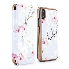 fe706d286 OFFICIAL Ted Baker BREEK Mirror Folio Case for iPhone X   XS - Oriental  Blossom