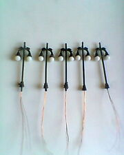 5x HORNBY ETC 00 MODEL RAILWAY TRAIN TRACK STATION ROADWAY 6/12VOLTS LAMPPOSTS