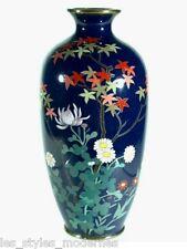 Le Japon Meiji époque bouquets cloisonne vase ° JAPONAIS ART NOUVEAU