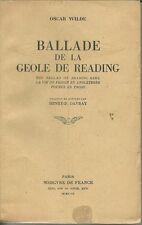 BALLADE DE LA GEÔLE DE READING - OSCAR WILDE 1947