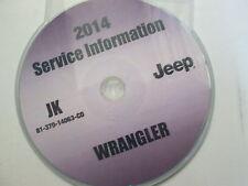 2014 JEEP WRANGLER Service INFORMATION Shop Repair Manual CD DVD OEM BRAND NEW