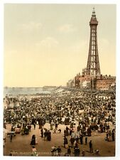 4 Victorian Views Blackpool Pier & Tower 4 Reproduction Old Photos Pictures Set