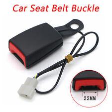 "1Pcs Black Car Camlock 7/8"" Front Seat Belt Buckle Car Seat Belt Lock+Cable"