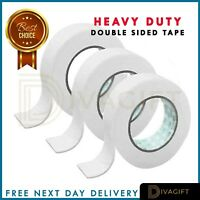 DOUBLE SIDED TAPE CLEAR STICKY TAPE DIY STRONG CRAFT ADHESIVE 24MM 45MM x 10M