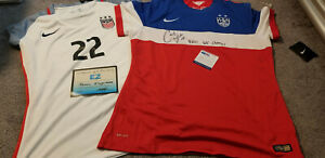 Carli Lloyd & Megan Klingenberg Signed autographed US Women's Soccer Jersey PSA