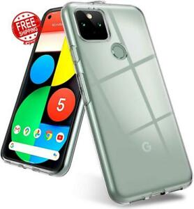 Case For Google Pixel 5 Thin Slim Soft Flexible Silicone Shockproof Cover Clear