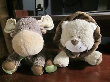 Carter's plush tan lion with rattle lovey VHTF & moose lovey