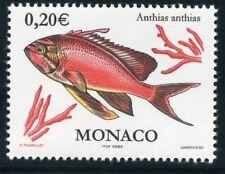 TIMBRE DE MONACO N° 2328 ** FAUNE / POISSONS ET COQUILLAGES / ANTHIAS