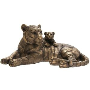 JungleReflections Bronze Tiger And Baby Cub Leonardo Ornament  LP46004 Boxed