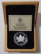 1989 Royal Canada Mint Maple Leaf 1oz Silver Proof $5 Five Dollar Coin Boxed