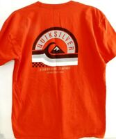 Quiksilver-MensT Shirt, Extra Large-XL, Red, 100% Cotton, Logo Tee