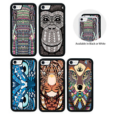 Aztec Animals Bumper Case for iPhone 5 5s SE 6 6s 7 8 PLUS X XS MAX XR Cover