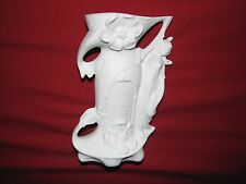 "ceramic Germany vintage VASE matte white bisque art deco  RETRO MODERNIST 6.5"""