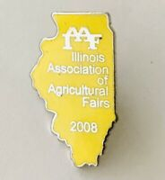Illinois Association Of Agricultural Fairs 2008 Pin Badge Rare Vintage (C19)