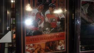 Eric Lindros/John Leclair Philadelphia Flyers  Framed Hall of Fame Night Signed