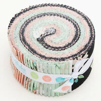 "40-2.5"" STRIPS~ROLIE POLIE~BLISS by My Mind's Eye~""JELLY ROLL"" black pink mint"