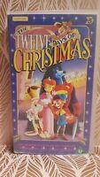 The Twelve Days of Christmas VHS Video Tape Cartoon Childrens TBLO