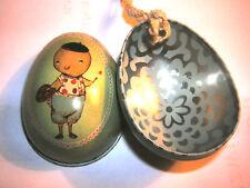 MAILEG * Osterei * 5 cm * Aufhänger * Metall * grünes Küken * Ostern * Befüllen