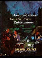 Channel Master 1966 Radio Tape Recorder TV Walkie Talkie Vintage Dealer Brochure