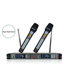 200 Channel Wireless Microphone System for Stage, Karaoke, Singing, Musicians