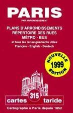 Plan-Guide De Paris (Modele Depose): Plans D'Arrondissements (Cartes Taride 315