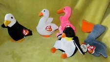 NEW Lot Beanie BIRDS Eagle Swan Flamingo Pelican Penguin TOY Plush Decor Baldy