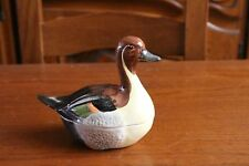 TERRINE MICHEL CAUGANT / faïence France / CANARD / FRENCH POTTERY DUCK DISH