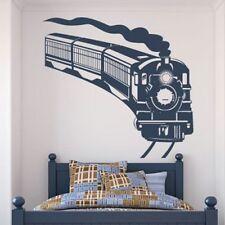 Steam Train Wall Sticker Transport Wall Decal Boys Bedroom Home Decor