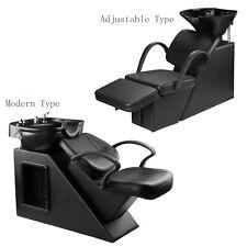 Shampoo Barber Backwash Chair Adjustable ABS Bowl Sink w/ Chair Unit Station