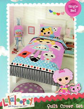 LALALOOPSY ALICE IN LOOPSYLAND AND RABBIT QUILT COVER SET SINGLE NEW