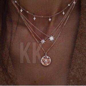 BOHO Festival  gold silver  ringstone gems CHOKER NECKLACE - UK STOCK