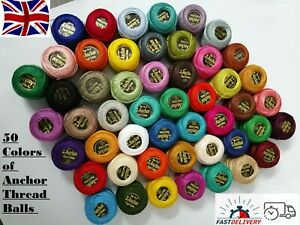 50 anchor cotton balls best for hand embroidery & strong threads & best quality