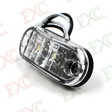 1x Clear/White LED Front / Rear Side Marker Light Clearance Truck Trailer Bus